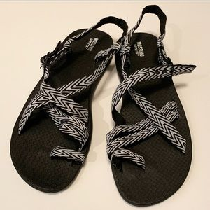 Mossimo Sandals — Never worn! (Chaco dupes)